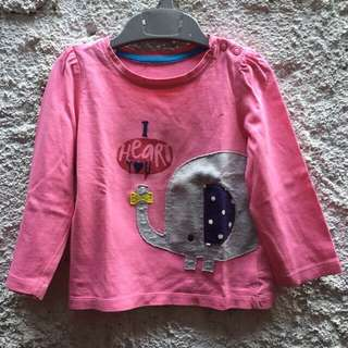 2 pcs long sleeves mothercare 9-12 bulan (take all)