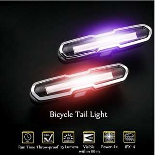 USB Rechargeable Super Bright Bicycle Tail / Front Light, Waterproof & Shock Proof LED Flashing Safety Rear Light, Easy to Install or Release, Fits on any Bicycles, Helmets or Backpacks