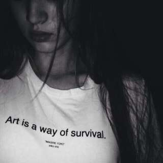 🚚 Art Is a Way Of Survival Design Apparel Tshirt Shirt Tee