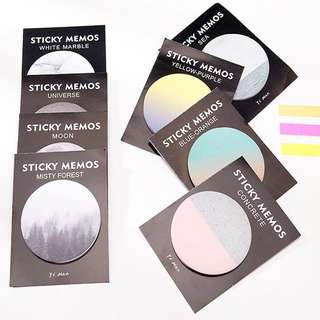 🌟BN INSTOCKS Round Gradient Post-Its Sticky Memo Pad