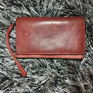 Love Supreme Long red leather wallet