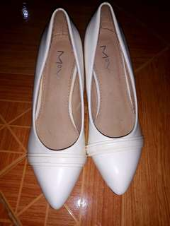White 2 inch heels used once only
