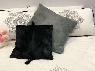 Real cow fur cushions