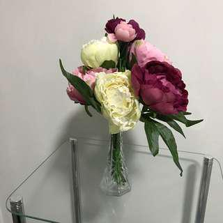 NEW Pink Peony Bouquet Bunch