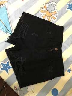 黑色超顯瘦短款