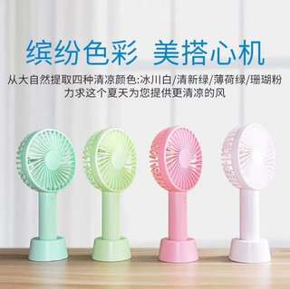 🚚 Macaron Portable Hand Fan with Base