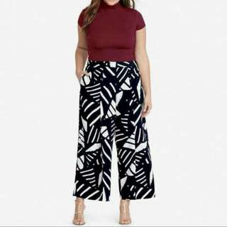 PREORDER Plus Size Terno (Spandex Top & Printed Pants)
