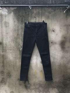 🚚 二手黑色高腰牛仔褲
