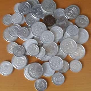 1964年一1988年分币56枚共售