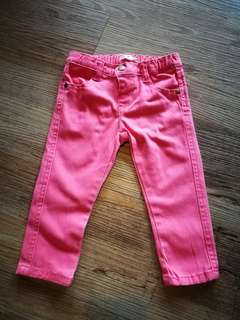 6-12m Plum Coral Red Skinny Jeans