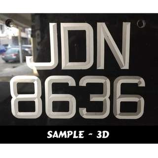 Number plate for car & motor