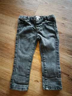 6-12m Plum Faded Skinny Jeans