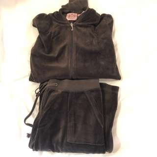 Juicy couture brown track suit set