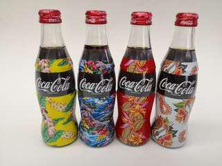 Coca Cola日本可口可樂四季玻璃紀念樽