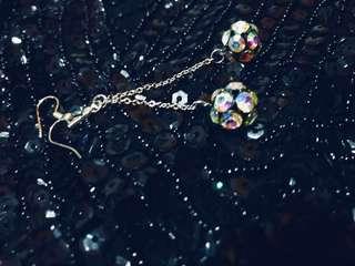 💛 Shamballa Crystal Rainbow Drop Earrings