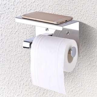 Wall mounted multipurpose toilet paper holder