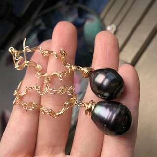 大溪地純天然黑珍珠