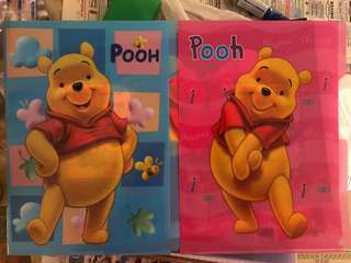 BN Winnie the Pooh L Shaped 3-tab A4 Folder (Pink/Blue)