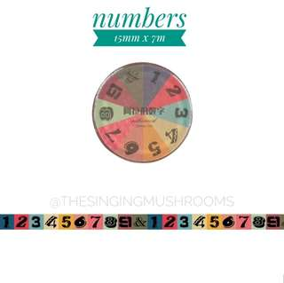 [T]Numbers washi tape