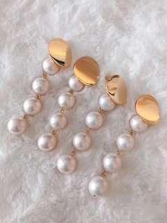 天然珍珠耳環14k注金