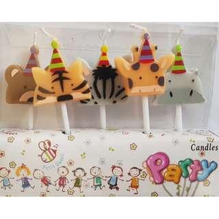 Animal Shaped Birthday Candles