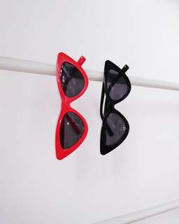 (150 EACH) Red and black cat eye sunnies