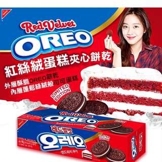 🚚 現貨 - 韓國 - OREO 紅絲絨蛋糕夾心餅乾 - 94g