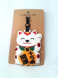 Fortune cat Luggage Tag