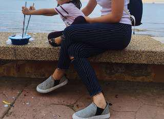 Zara Stripe jeans