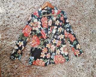 [RESERVED] ZARA BASIC Floral Blazer