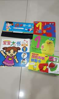 Baby books & puzzle(5 items)