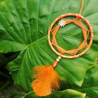 Minimalistic Orange Dreamcatcher