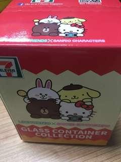 7-11 Sanrio Hello Kitty Glass container