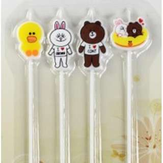 Line Friends Long Birthday Candles