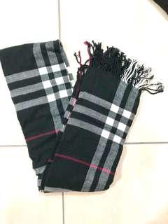 🚚 韓 氣質格紋保暖圍巾(也可當披肩)