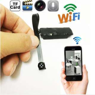 Wireless IP Hidden Spy WiFi Pinhole Digital Video Camera with built-in rechargeable battery (Brand New)