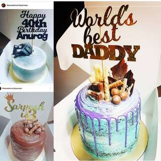 🚚 Customized Birthday Cake Toppers