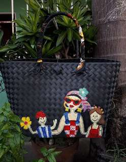 Amici hand painted bayong bag