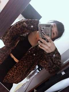 豹紋 coach jacket
