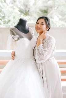 silver isla bridal robe