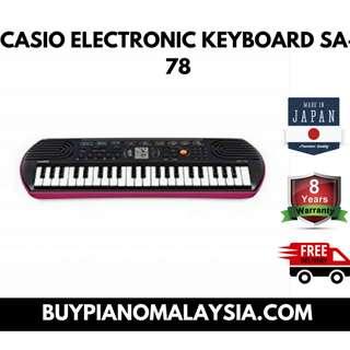 CASIO ELECTRONIC KEYBOARD SA-78