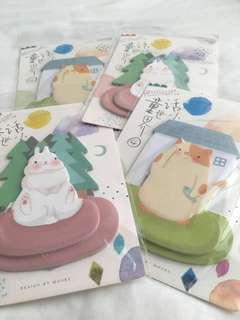 Adorable sticky memo pads!