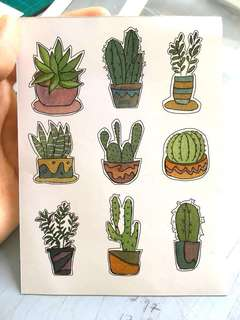 Cactus illustration Stickers