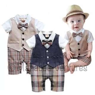 1 piece gentleman baby romper jumpsuit, flower boy