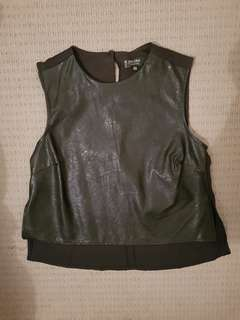 Zalora black leather top