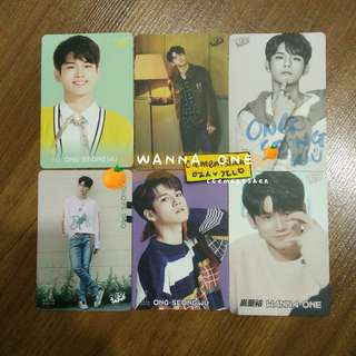 [FREE POS] Wanna One Ong SeungWu Yes Card Photocard SET
