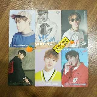 [FREE POS] Wanna One Ha Sungwoon Yes Card Photocard SET