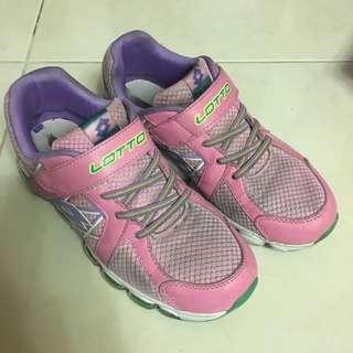 🚚 lotto 運動鞋 魔鬼氈 粉紫色