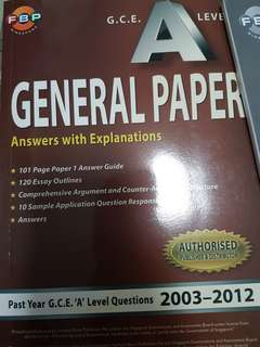 GCE Alevel General paper questions with answers