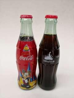 Coca Cola香港迪士尼開幕及十周年紀念樽一對